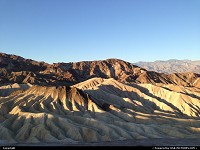 Death Valley, , CA, Zabriskie point at dawn