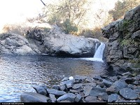 Rainbow Falls and Pool, local swimming hole on Highway 120 east of Groveland on the way to Yosemite