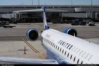 United Express (Skywest) CRJ700 at Los Angeles Airport, seen here before boarding for Tucson. What a cool livery !