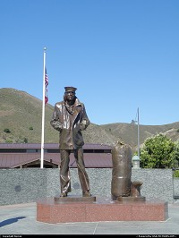 Marine memorial at Vista Point, north bank of Golden Gate Bridge