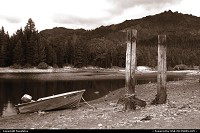 Photo by fongfotos | Kirkwood  Boat, Lake, Nature, Sepia