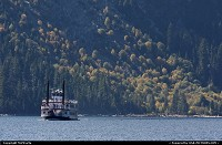 Photo by MnMCarta | Lake Tahoe  emerald,bay,water,boat,fairy,nature,mountain,autumn,fall,color,trees,perspective