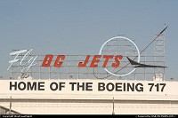 This historical neon sign located in LGB, Long Beach California, represents what was once one of the finest airplanes builders in the world. Douglas, then Mac Donnell Douglas was absorbed by Boeing. There is almost nothing left there from this great aera, unfortunately. The last plane produced there was the MD-90, aka Boeing 717. Anyhow, the sign is there to stay, hopefully!