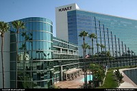 Hyatt Hotel, near the convention center. This property is located downtown, in front of the Rainbow harbor and the marina