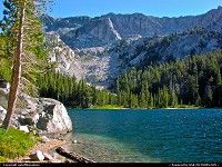 Truly God's country: T.J. Lake in Mammoth Lakes, Eastern Sierra, California.