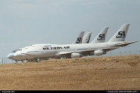 Modesto : Southern Air's 747 aircraft stored in mojave in California.