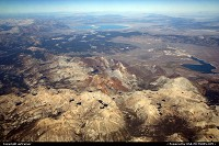 Flying over the mountains near Yosemite NP, Mono Lake can be seen in the background. Photo taken from a Southwest 737 bound to Las Vegas.