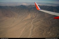 flying over the desert between San Francisco and Las Vegas