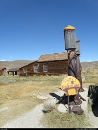 The mining city of Bodie once was the 3rd in California. Dismantled after World War II