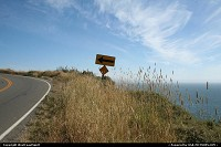 Not in a city : Road tripping the coastal Route 1, north of San Francisco, between Bolinas and Muir Beach. Be aware of the coming bend!