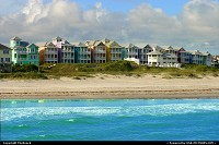 Colorful Beach Houses at the Atlantic Beach