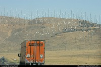 Photo by WestCoastSpirit | Not in a city  wind mills, green, freeway, ecology