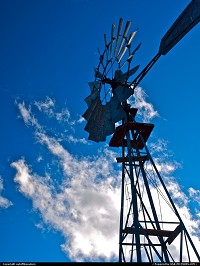 Photo by outofthisnature | Not in a city  windmill, clouds, sky, Owens Valley, Eastern Sierra, California