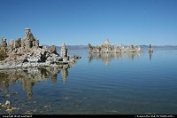 Formations in Mono Lake, California. The lake is at least 3 times salted than the sea