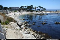 Pacific Grove : People enjoying beach at pacific grove