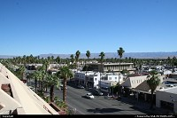 Downtown Palm Springs in the middle on the desert between Los Angeles and Las Vegas. One can't realize how hostile the desert is outside town!