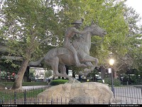The Pony Express memorial