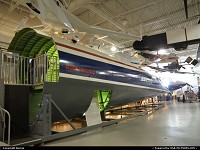 San Carlos : Impressive! The supersonic project Boeing 2707 forward fuselage mock-up at Hiller Aviation Museum