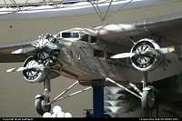 A venerable Ford Tri Motor on display at the San Diego Air & Space Museum, in Balboa Park.