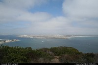 Cabrio National Monument in San Diego. Fantastic view of the bay from there. Not very good weather for us today. The view is just amazing when it's clear up there.