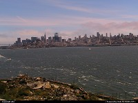 Downtown San Francisco from Alcatraz