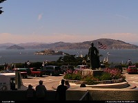 Photo by elki | San Francisco  coit tower, alcatraz, telegraph hill, bay