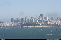 Overview of san francisco from the golden gate