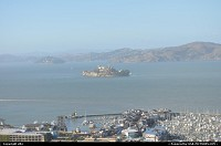San Francisco : alcatraz from coit tower