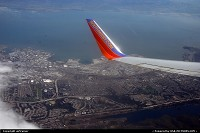 Leaving San Francisco with Southwest, the airport can be seen under the winglet...