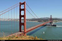 San Francisco : It links south part of the bay to the north, it welcomes any kind of ship, on a foggy day it links earth sky and ocean ... It is more than a bridge ... it is the Golden Gate Bridge !!!