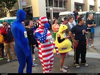 , San Francisco, CA, The eclectic crowd for Bay to breakers 2013.