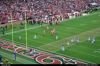 49 ers game against Seattle Seahawks. Niners won and keep a chance to play the superbowl