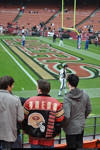 echauffement avant le match, 49 ers San Francisco