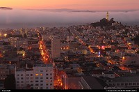Photo by elki | San Francisco  san francisco sunset coit tower