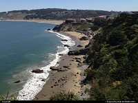 , San Francisco, CA, China Beach, on our way back to downtown after the Bay to Breakers crazy race. The coastal trail is simply amazing, probably less iconic than, say, the Golden Gate but a must see I would say!