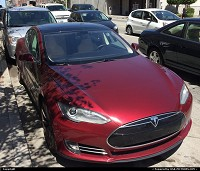 , San Francisco, CA, Tesla. The luxury version of electric car. Designed from scratch it is the most inovative electric car