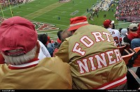 California, 49 ers game, on sunday 12 december. This game against seatle seattle seahawk was crazy, niners won and keep a chance to play the play off. The guy with the OG jacket follows the team since 1946 !!!!