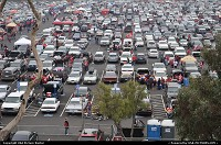 crowd parking lot before the 49ers' game. People tailgated before entering in the stadium
