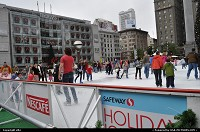 Photo by elki | San Francisco  ice rink at union square san francisco