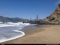 , San Francisco, CA, San Francisco ad nauseam. Or maybe not! Baker Beach here. The orange fella afar doesn't need to be introduced. Very interesting view from Baker beach, give it a try!