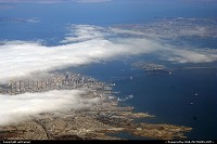 Downtown San Francisco, viewed from a Southwest 737 some minutes after take-off
