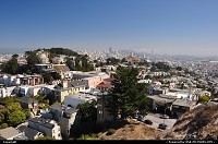 Downtown and financial district from the Twin Peaks neighbourhood.