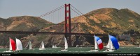 , San Francisco, CA, Sailing the Bay must be a trill ... Here passing the gorgeous Golden Gate Bridge, the gate to the Bay ...