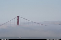 San Francisco : The Golden Gate under the fog