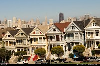 Famous Painted Ladies, shooted from Alamo square.