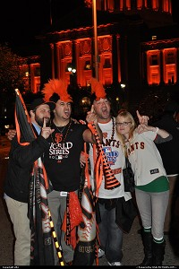 !!!! CONGRATULATIONS GIANTS !!!! They actually won the world series for the first time since moving to San Francisco. While the game was over, no need to check result on tv, San Francisco became an honking city http://sanfrancisco.giants.mlb.com