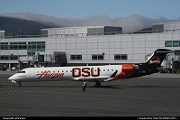 N609QX from Horizon Air wearing a special livery dedicated to the Oregon State University Beavers, here seen ready for departure at SFO international airport.