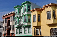 Nice and colorfull houses in san francisco