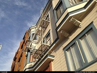 Photo by WestCoastSpirit | San Francisco  house, painted, Coit tower