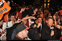 !!!! CONGRATULATIONS GIANTS !!!! They actually won the world series for the first time since moving to San Francisco. While the game was over, no need to check result on tv, San Francisco became an honking city http://sanfrancisco.giants.mlb.com/